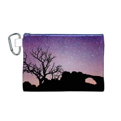 Arches National Park Night Canvas Cosmetic Bag (m)