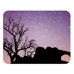 Arches National Park Night Double Sided Flano Blanket (large)