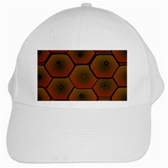 Art Psychedelic Pattern White Cap