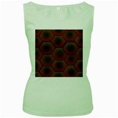Art Psychedelic Pattern Women s Green Tank Top