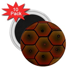 Art Psychedelic Pattern 2 25  Magnets (10 Pack)