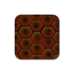 Art Psychedelic Pattern Rubber Coaster (square)