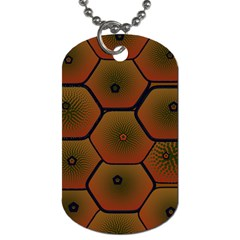 Art Psychedelic Pattern Dog Tag (one Side)