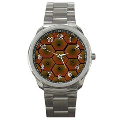 Art Psychedelic Pattern Sport Metal Watch