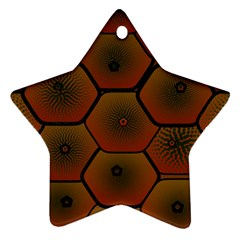 Art Psychedelic Pattern Star Ornament (two Sides)