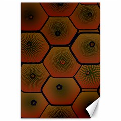 Art Psychedelic Pattern Canvas 12  X 18