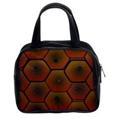 Art Psychedelic Pattern Classic Handbags (2 Sides)