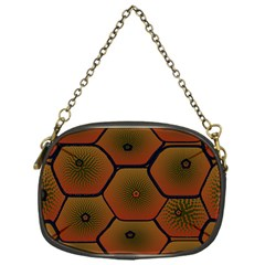 Art Psychedelic Pattern Chain Purses (one Side)