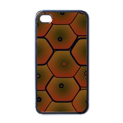Art Psychedelic Pattern Apple Iphone 4 Case (black)