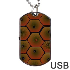 Art Psychedelic Pattern Dog Tag Usb Flash (two Sides)