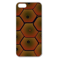 Art Psychedelic Pattern Apple Seamless Iphone 5 Case (clear)