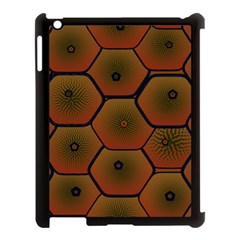 Art Psychedelic Pattern Apple Ipad 3/4 Case (black)