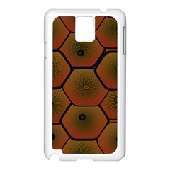 Art Psychedelic Pattern Samsung Galaxy Note 3 N9005 Case (white)