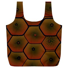 Art Psychedelic Pattern Full Print Recycle Bags (l)