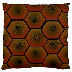 Art Psychedelic Pattern Large Flano Cushion Case (one Side)