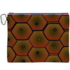 Art Psychedelic Pattern Canvas Cosmetic Bag (xxxl)