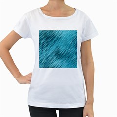 Banner Header Women s Loose Fit T Shirt (white)