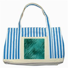 Banner Header Striped Blue Tote Bag