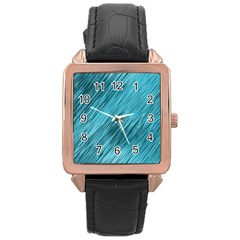 Banner Header Rose Gold Leather Watch