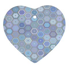 Bee Hive Background Ornament (heart)