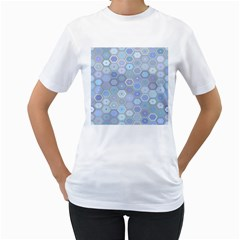 Bee Hive Background Women s T Shirt (white) (two Sided)