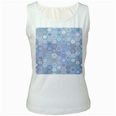Bee Hive Background Women s White Tank Top