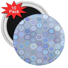 Bee Hive Background 3  Magnets (10 pack)