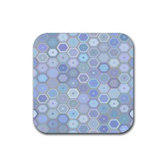 Bee Hive Background Rubber Square Coaster (4 Pack)