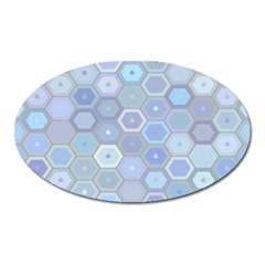 Bee Hive Background Oval Magnet