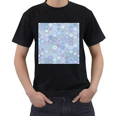 Bee Hive Background Men s T Shirt (black) (two Sided)