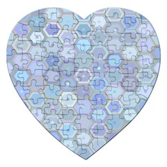 Bee Hive Background Jigsaw Puzzle (heart)