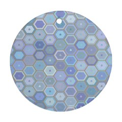 Bee Hive Background Round Ornament (two Sides)