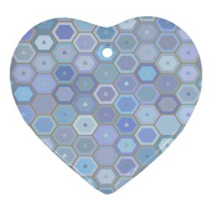 Bee Hive Background Heart Ornament (two Sides)