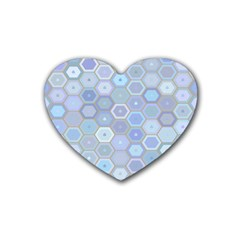Bee Hive Background Heart Coaster (4 Pack)
