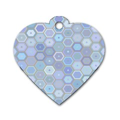 Bee Hive Background Dog Tag Heart (one Side)