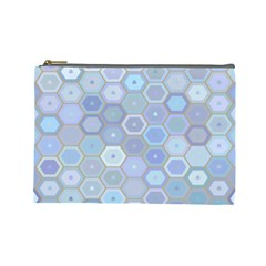 Bee Hive Background Cosmetic Bag (large)