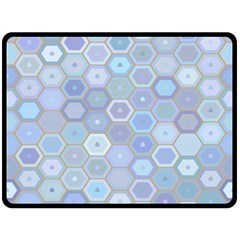Bee Hive Background Fleece Blanket (large)