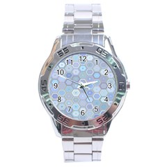 Bee Hive Background Stainless Steel Analogue Watch
