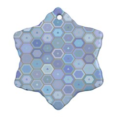 Bee Hive Background Snowflake Ornament (two Sides)