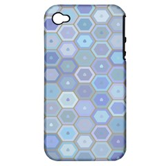 Bee Hive Background Apple Iphone 4/4s Hardshell Case (pc+silicone)