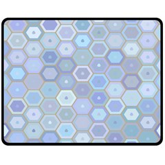 Bee Hive Background Double Sided Fleece Blanket (medium)