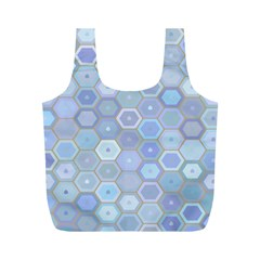 Bee Hive Background Full Print Recycle Bags (m)