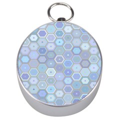 Bee Hive Background Silver Compasses