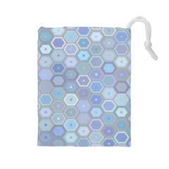 Bee Hive Background Drawstring Pouches (large)