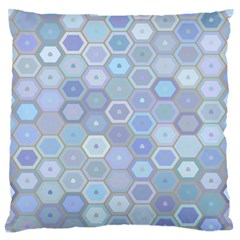 Bee Hive Background Large Flano Cushion Case (two Sides)