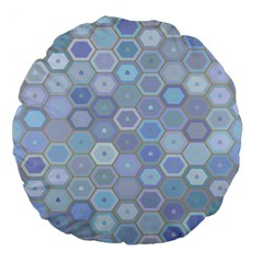 Bee Hive Background Large 18  Premium Flano Round Cushions