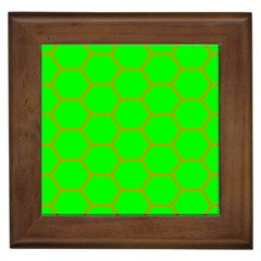 Bee Hive Texture Framed Tiles