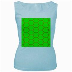Bee Hive Texture Women s Baby Blue Tank Top