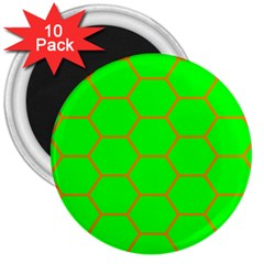 Bee Hive Texture 3  Magnets (10 Pack)
