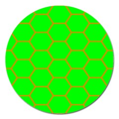 Bee Hive Texture Magnet 5  (round)